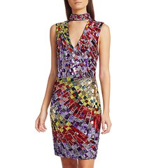 dumont sequin choker dress