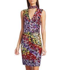 dumont sequin choker dress