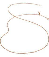 """fine chain 24"""" with adjuster, rose gold vermeil on silver"""