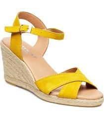 dorit sandalette med klack espadrilles gul pavement