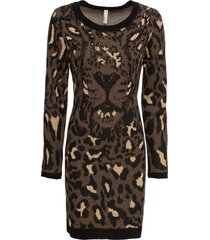 abito in maglia leopardato (nero) - bodyflirt boutique
