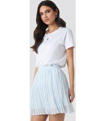 na-kd mini pleated skirt - blue