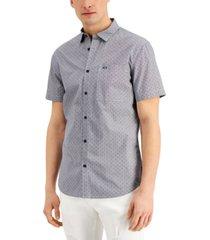 a x armani exchange men's regular-fit ditsy-print dobby shirt