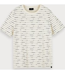 scotch & soda all-over-print sustainable cotton short sleeve t-shirt