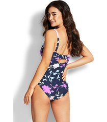 seafolly florence dd scoop swimsuit indigo