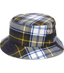 mackintosh barr plaid bucket hat - blue