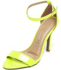 sandalia neon amarillo vizzano