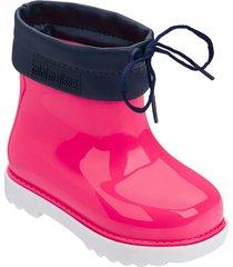 botas melissa blanco azul rosa mini rain boot bb
