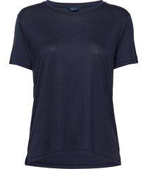 d1. light weight ss t-shirt t-shirts & tops short-sleeved blå gant