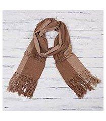 cotton scarf, 'earth warmth' (peru)