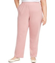 alfred dunner plus size all about ease french terry pants