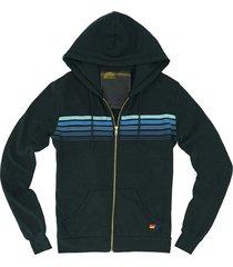 men's aviator nation 5-stripe zip hoodie, size small - grey