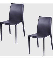 conjunto 2 cadeiras glam marrom ordesign