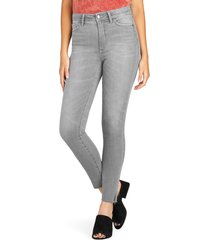 women's sam edelman stiletto slit ankle skinny jeans, size 25 - blue