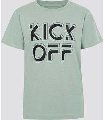 t-shirt i bomull med tryck - blå