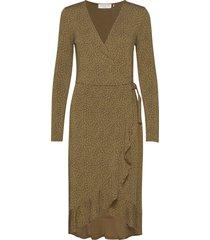 dress ls knälång klänning beige rosemunde