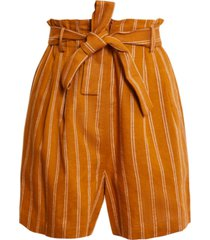 bcbgmaxazria striped tie-waist shorts