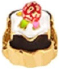berloque infantil cup cake colorido banhado a ouro 18k