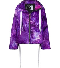 khrisjoy tie-dye padded jacket - purple