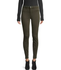 l'agence women's mid-rise skinny jeans - army green - size 24 (0)