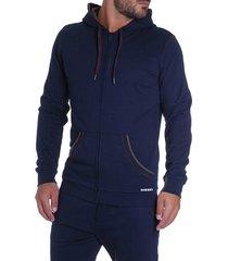 diesel hoodie brandon met rits blauw