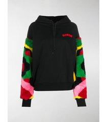 kirin contrast-panel hoodie