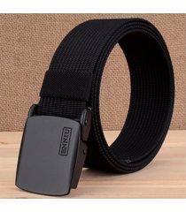 cinturón de hombres, cinturón de lona al aire libre-negro