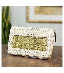 natural fibers wallet, 'mexican fanfare' (mexico)