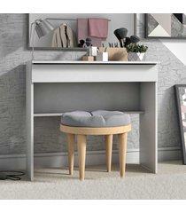 penteadeira office 1 gaveta bpe21 branco - brv móveis