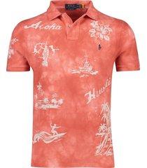 poloshirt hawai rood ralph lauren custom slim fit