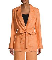 belted linen jacket