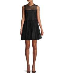 redvalentino women's illusion neck dress - cammello - size 40 (8)