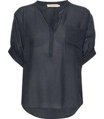 dicthe blouses short-sleeved blauw rabens sal r