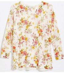 loft floral drop shoulder sweater