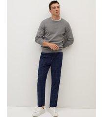 geruite tapered-fit broek