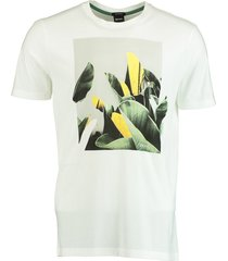 hugo boss t-shirt tejungle print wit 50427922/100
