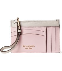 women's kate spade new york spencer leather wristlet card case - pink