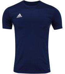 camiseta adidas core 18 - masculina - azul escuro
