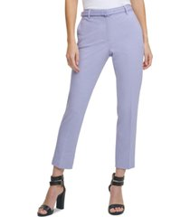 dkny belted skinny pants