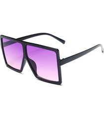 retro oversized ombre square sunglasses