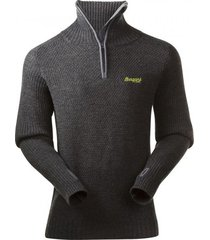 bergans trui men ulriken dark grey melange-xl
