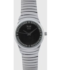 reloj plateado-negro versace 19.69