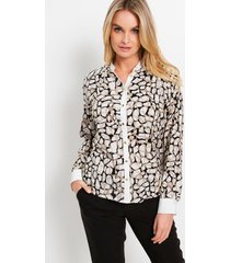blouse met animalprint