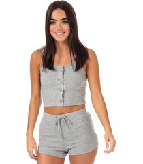 womens vest & short lounge set
