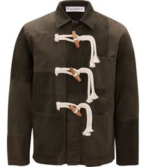 jw anderson toggle-fastening jacket - green