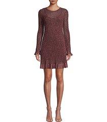 knit lurex mini dress