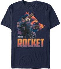 marvel men's avengers infinity war rocket posed profile short sleeve t-shirt