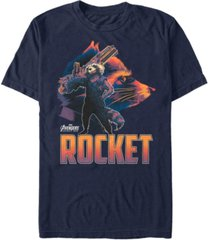 marvel men's avengers infinity war rocket posed profile short sleeve t-shirt