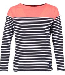 t-shirt lange mouw superdry colour block bretton