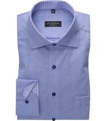 eterna overhemd comfort fit blauw geprint